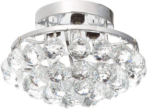 "10"" Chrome with Crystal Flush Mount - LV LIGHTING"