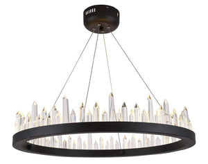 "26"" Dark Grey with Crystal Chandelier - LV LIGHTING"
