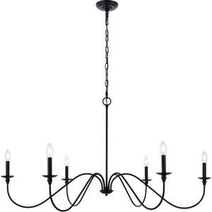 "48"" Black Chandelier - LV LIGHTING"