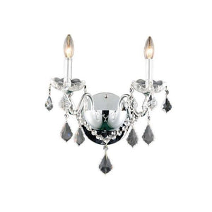 "15"" Chrome with Crystal Wall Sconce - LV LIGHTING"