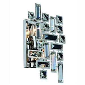 "12"" Chrome with Crystal Wall Sconce - LV LIGHTING"