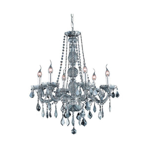 "24"" Silver with Crystal Chandelier - LV LIGHTING"