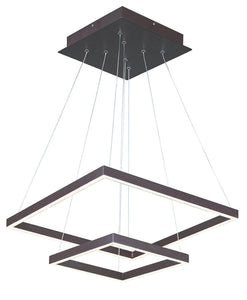 LED Double Square Chandelier