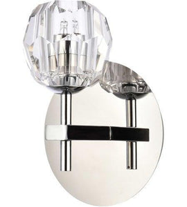 "6"" Chrome with Crystal Wall Sconce"