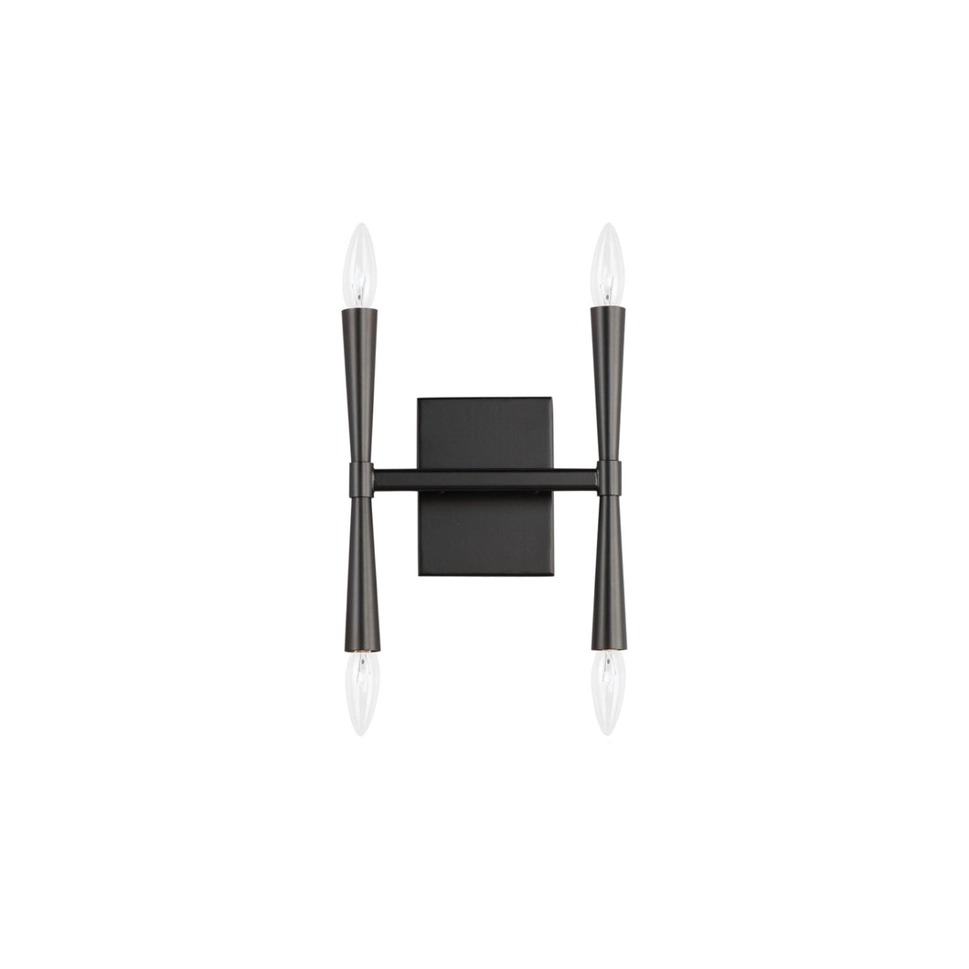 Black with 4 Light Wall Sconce