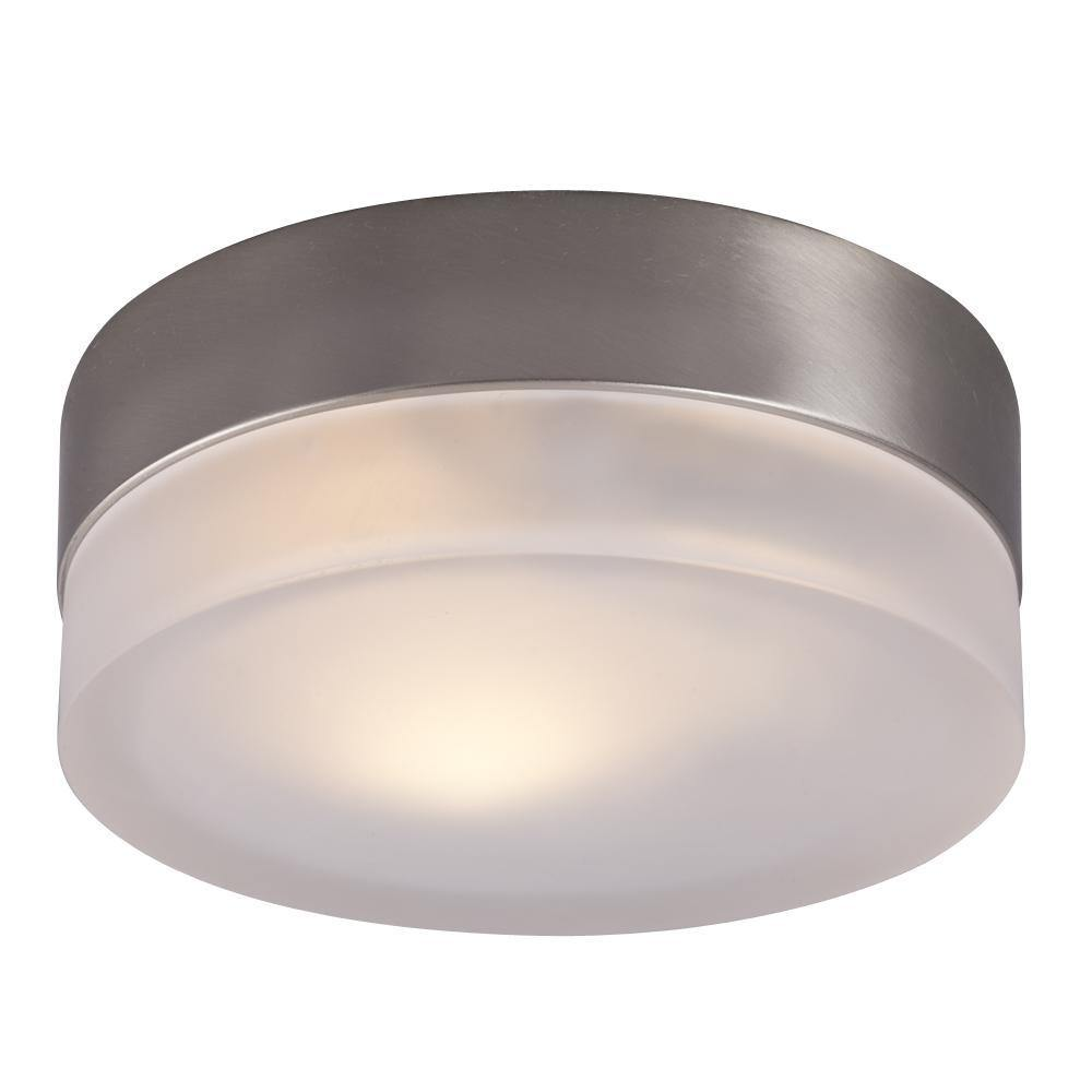 Brushed Nickel with Frosted Glass Flush Mount - LV LIGHTING