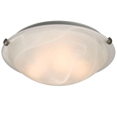 Pewter with Marbled Glass Flush Mount - LV LIGHTING