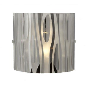 "7"" Chrome Frosted Glass Wall Sconce - LV LIGHTING"