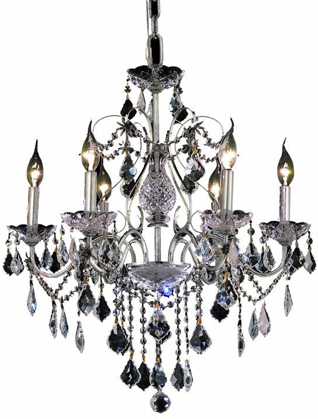 21 Inch Chandelier Chrome with Crystal - LV LIGHTING