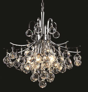 "16"" Silver with Crystal Chandelier - LV LIGHTING"