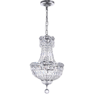 "12"" Chrome with Crystal Chandelier - LV LIGHTING"