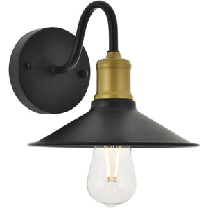 "9"" Black with Gold Wall Sconce - LV LIGHTING"