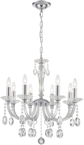 "25"" Chrome and Clear Chandelier - LV LIGHTING"