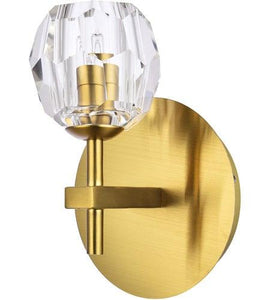 "6"" Gold with Crystal Wall Sconce"
