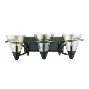 "22.50"" Dark Bronze with Amber Glass Vanity Light - LV LIGHTING"