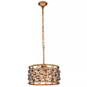 "16"" Gold with Crystal Pendant - LV LIGHTING"