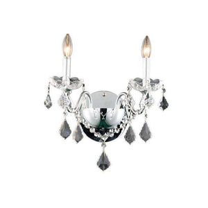 "13"" Chrome with Crystal Wall Sconce"