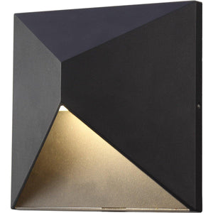 "8"" Matte Black Outdoor Wall Light - LV LIGHTING"
