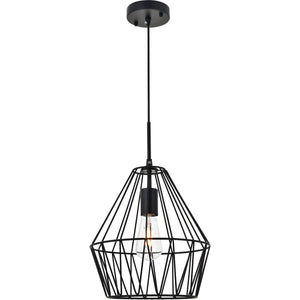 "11"" Black Pendant - LV LIGHTING"
