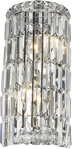 "16"" Chrome Crystal Wall Sconce - LV LIGHTING"