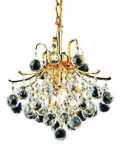 "12"" Gold with Crystal Pendant - LV LIGHTING"
