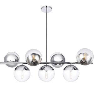 "43"" Chrome with Clear Glass Pendant - LV LIGHTING"