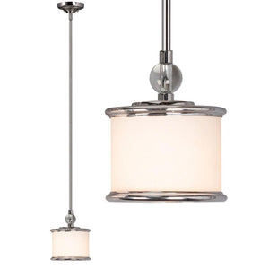 "7.5"" Chrome with Frosted Glass Mini-Pendant - LV LIGHTING"