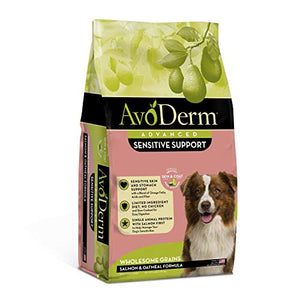 AvoDerm Natural Advanced Sensitive Support Salmon & Oatmeal Formula 4 pounds