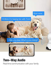 Load image into Gallery viewer, Pet Camera, Security Camera Conico 1080P HD Wireless Camera with Sound Motion Detection Two-Way Audio,Pan/Tilt/Zoom WiFi Surveillance Camera,Home Security Baby Cam with Night Vision Works with Alexa