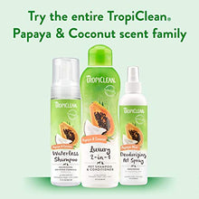 Load image into Gallery viewer, TropiClean Papaya & Coconut Luxury 2-in-1 Shampoo and Conditioner for Pets, 20oz - Made in USA