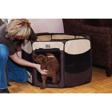 Load image into Gallery viewer, Travel Light Soft-Sided Pet Pen with Removable Top - up to 60 lbs. - Sahara Brown
