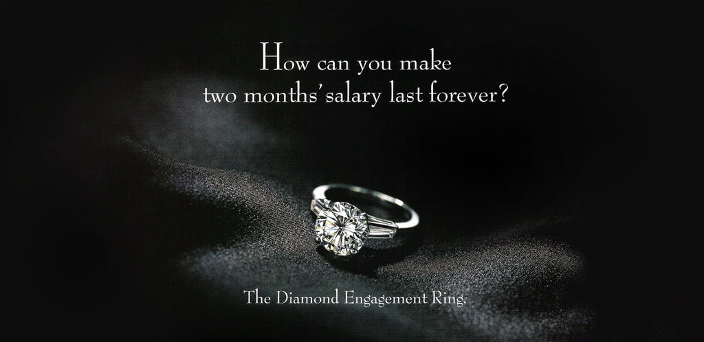Two Months Salary on Engagement Ring De Beers Ad