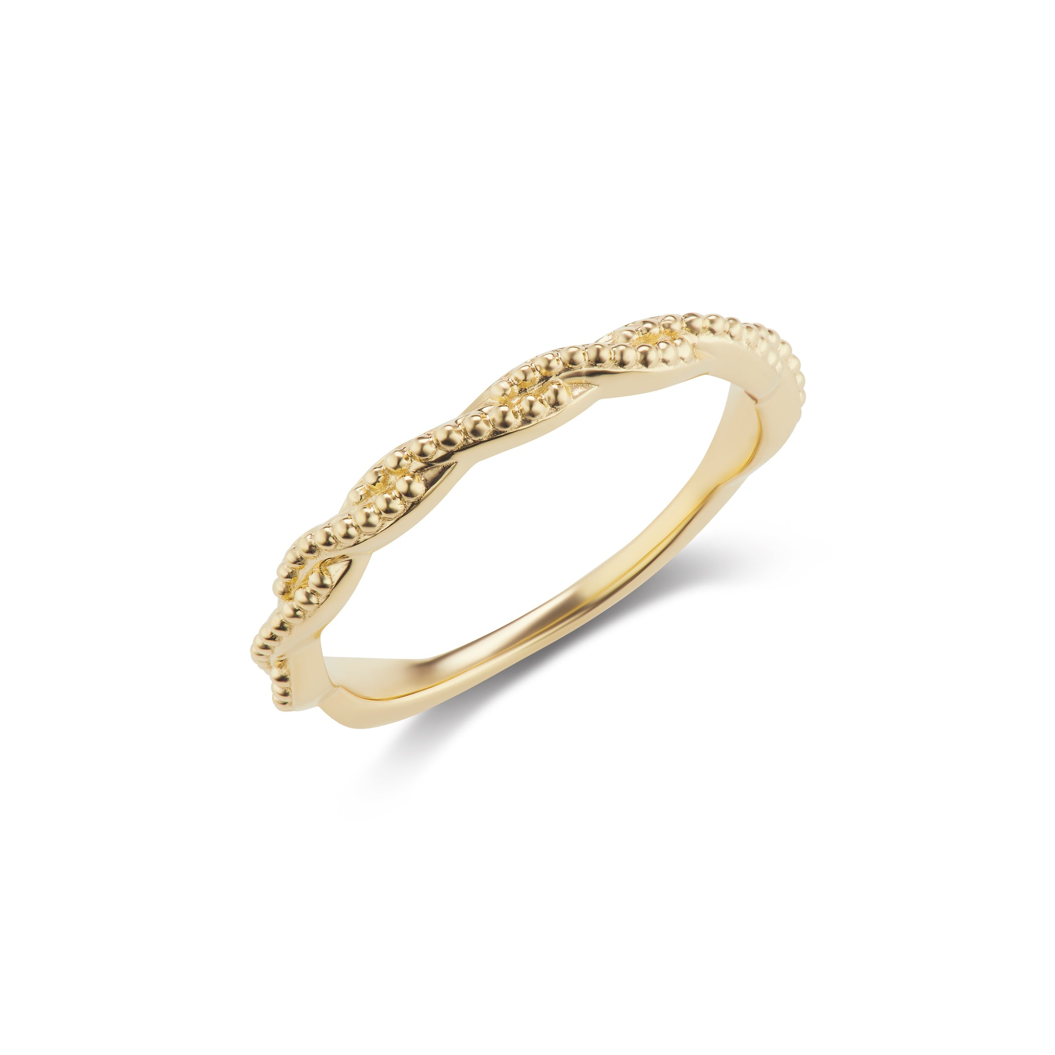 Twist Band Ring in Yellow Gold