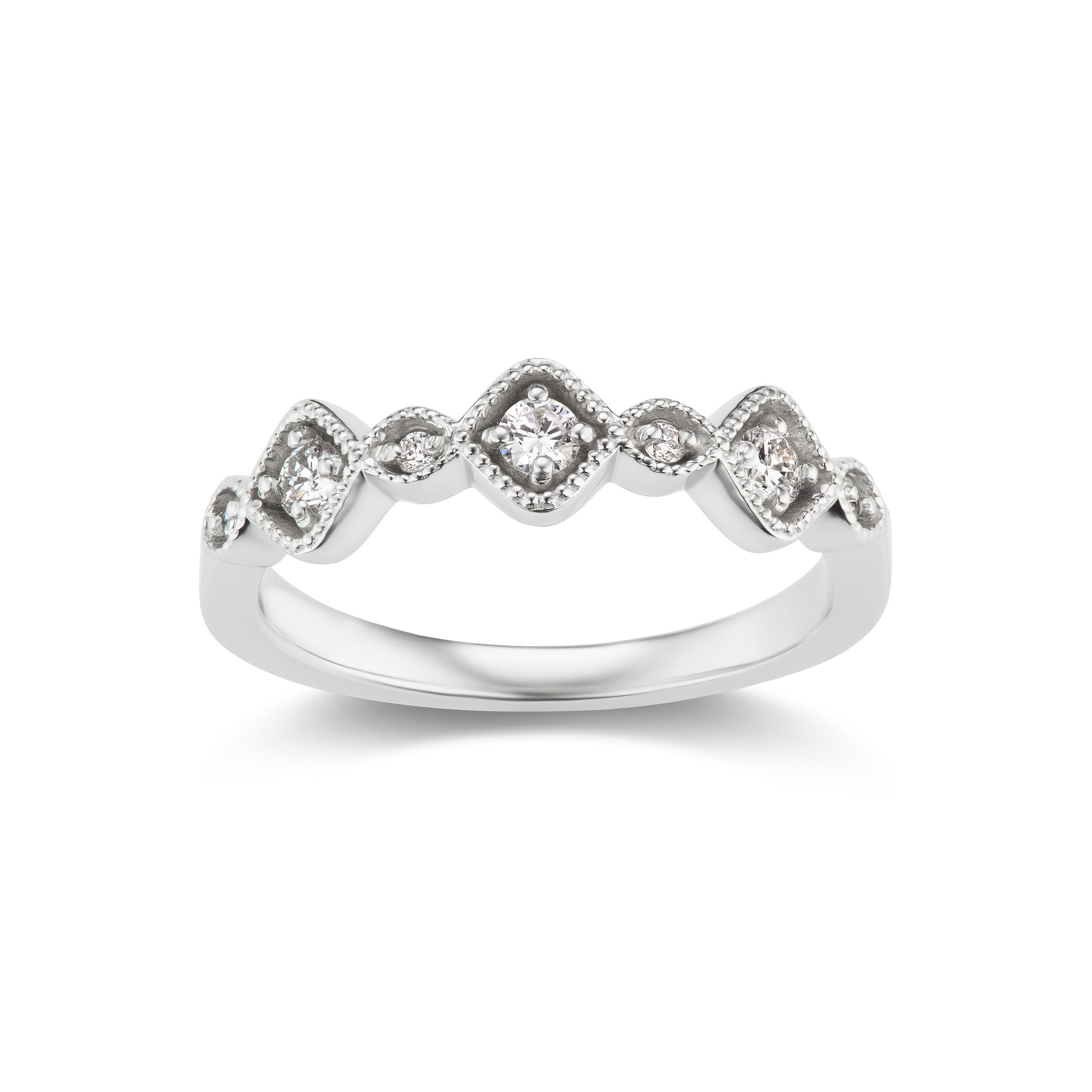 Pulsar Band Ring in White Gold (0.25 Ct. tw.)