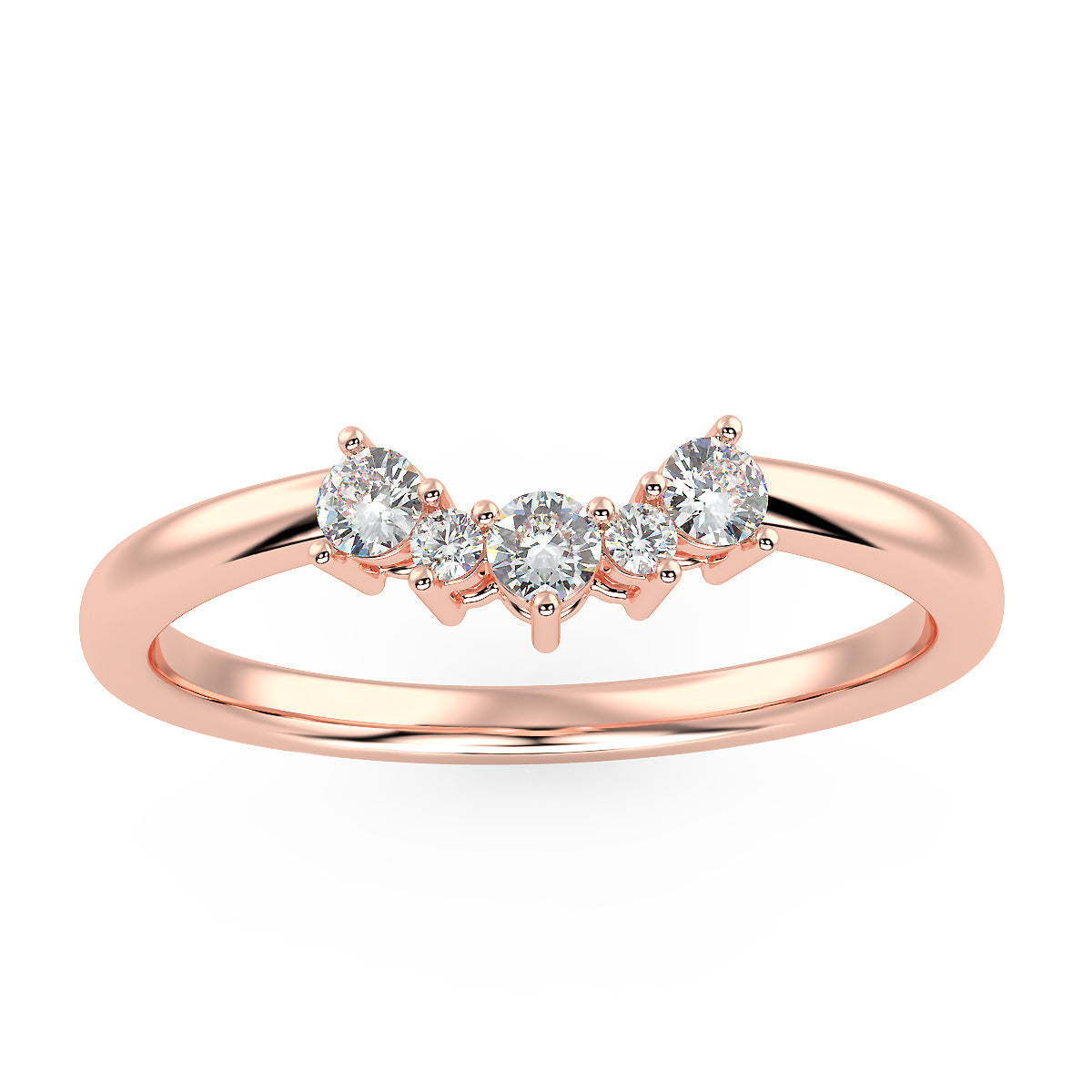 Radiance Band in Rose Gold