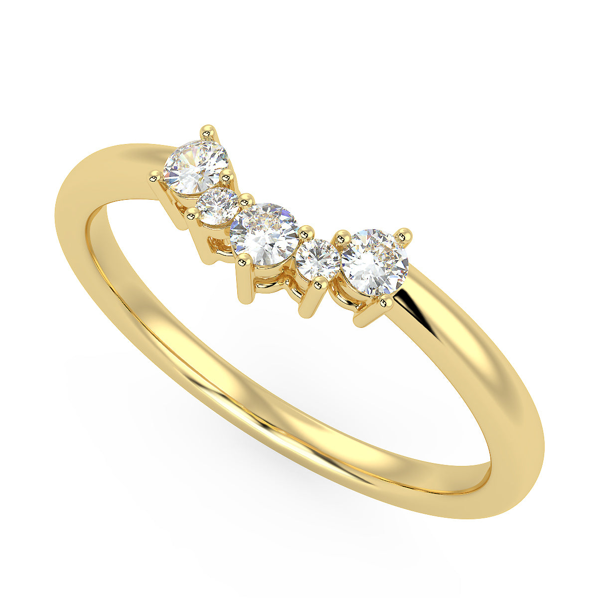 Radiance Band in Yellow Gold