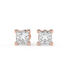 Sirius Princess Stud Earrings in Rose Gold
