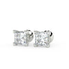 Sirius Princess Stud Earrings in White Gold