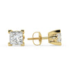 Sirius Princess Stud Earrings in Yellow Gold