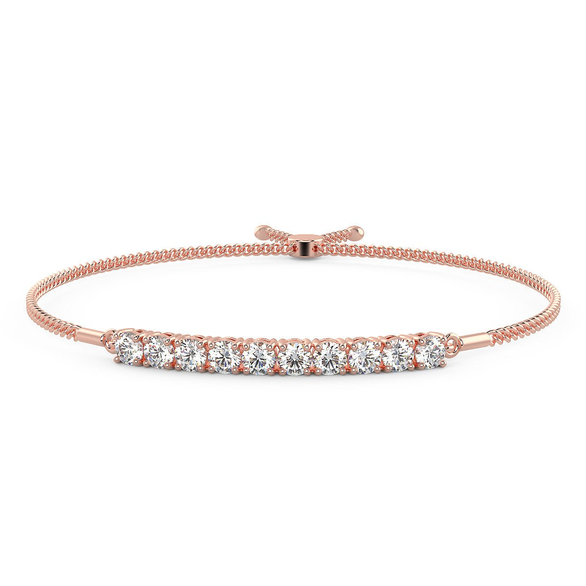 River of Light Bracelet in 14K Rose Gold (2.00 Ct. Tw.)
