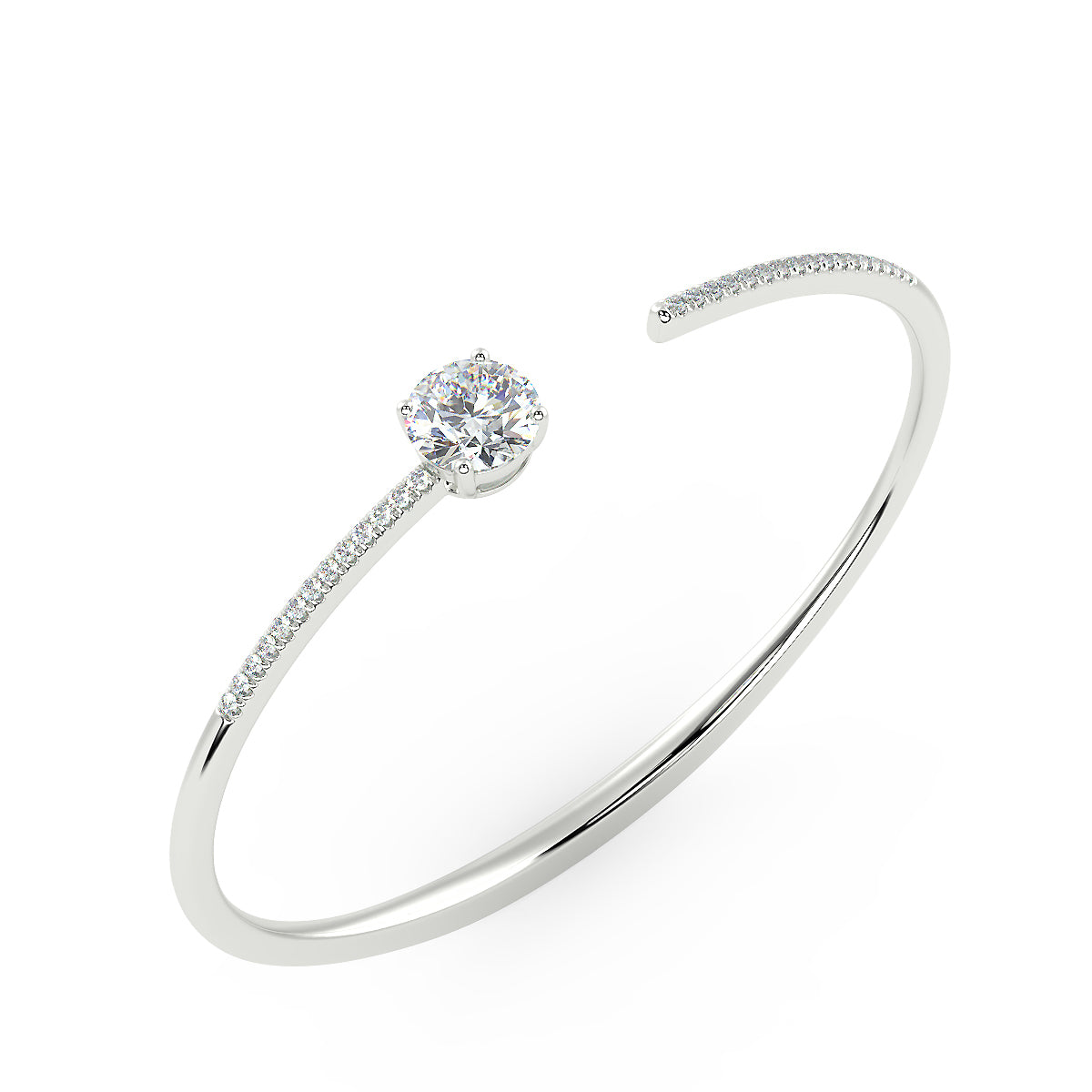 Comet Bangle in 14K White Gold (1.92 Ct. Tw.)
