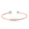 Binary Bangle in Rose Gold