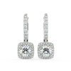 Rigel Drop Earrings in White Gold