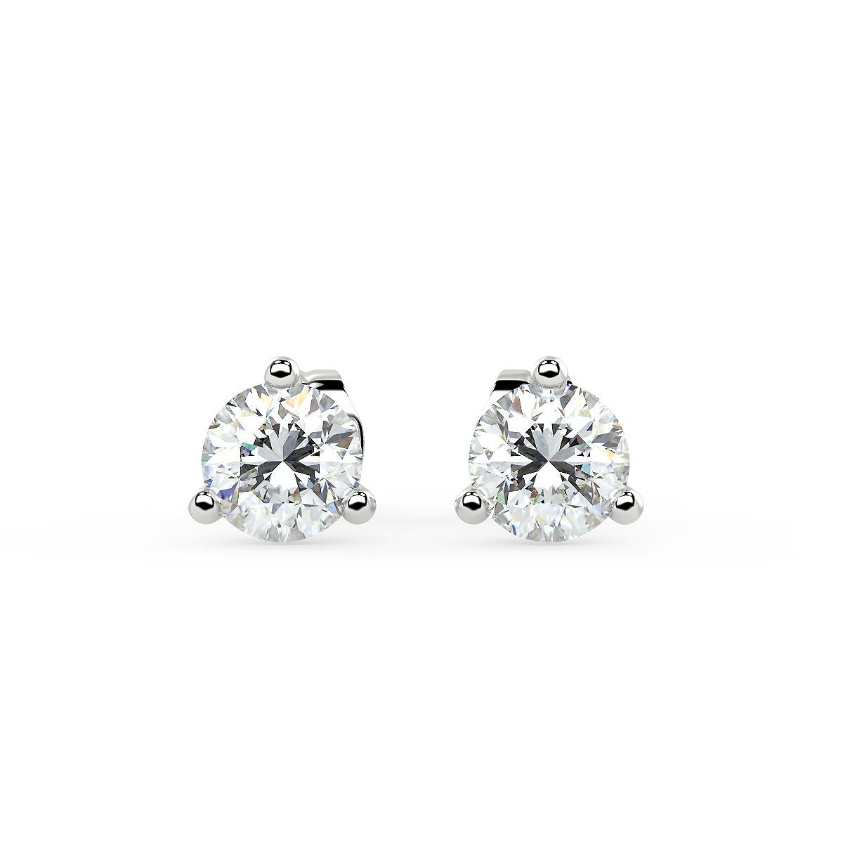 Sirius Martini Stud Earrings White Gold (0.50 Ct. Tw.)