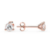 Sirius Martini Stud Earrings in Rose Gold