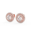 Andromeda Stud Earrings in Rose Gold