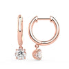 Sirius Drop Huggies in Rose Gold (1.00 Ct. Tw.)