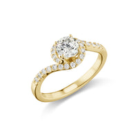 Comet Engagement Ring in Yellow Gold