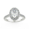 Ellipse Engagement Ring in White Gold