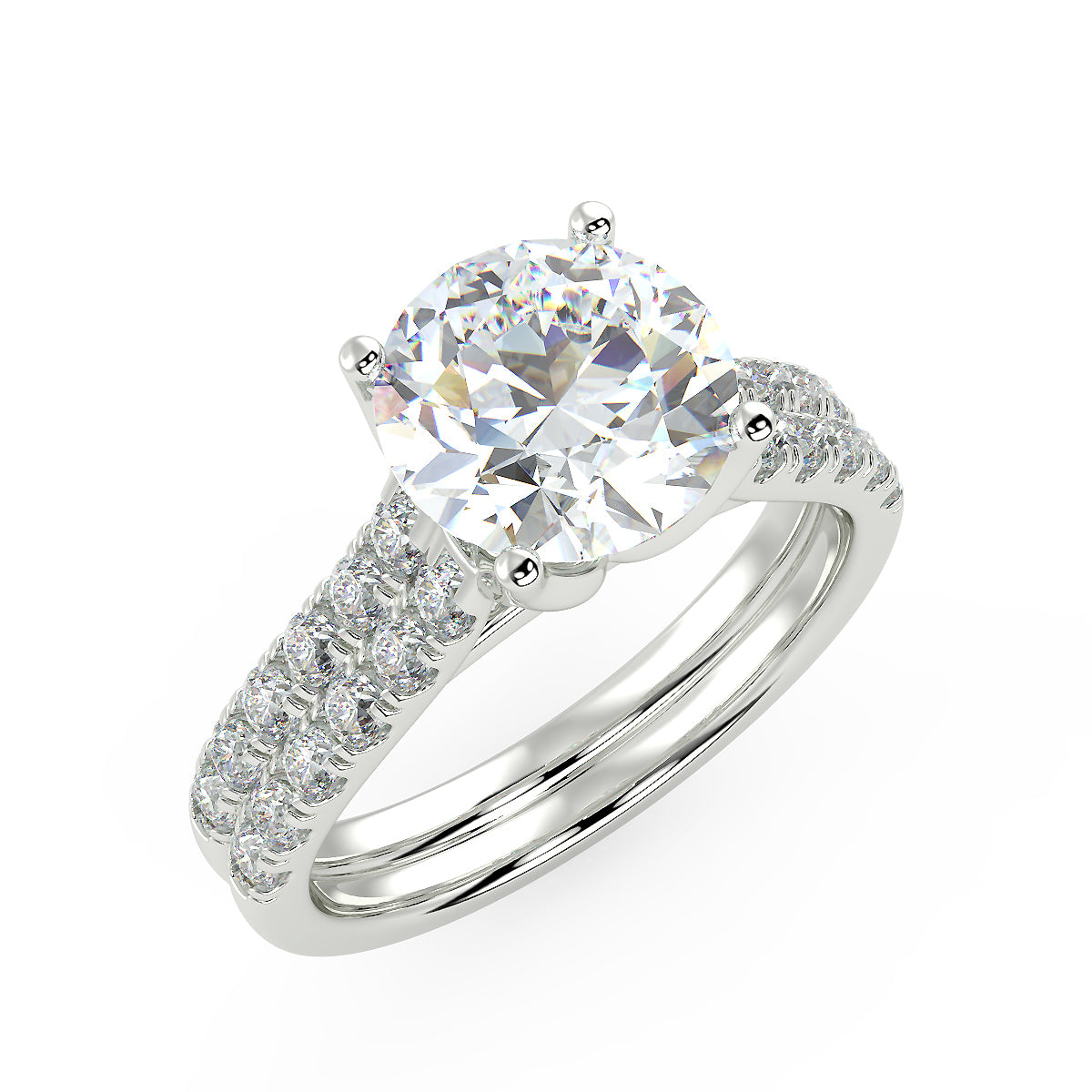 Bright Altair Engagement Ring in White Gold